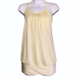 Lululemon Athletica Size 4 No Limits Tank Top Pale Yellow Athletic Lounge Wear